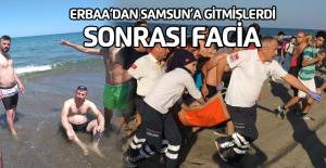 Erbaa'dan Samsun'a denize gittiler, sonrası facia