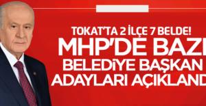 MHP Tokat'ta adayları açıkladı işte o isimler