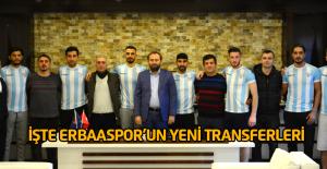 Erbaaspor yeni transferlerini tanıttı: 7 futbolcu birden