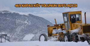 Kapalı Köy yollarının açılması için çalışma sürüyor