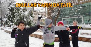 Tokat'ta okullar yarın da tatil