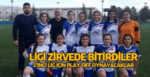 Erbaa'nın kızları Ligi 1'inci bitirdi 2'inci Lig için Play-off oynayacaklar