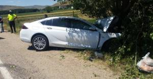 Niksarlı aile Sivas'ta kaza yaptı: 1 ölü 3 yaralı