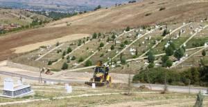 Erbaa'da yeni mezarlık çalışması