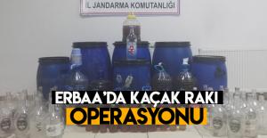 Erbaa'da kaçak rakı üretimi operasyonu