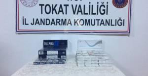 Niksar'da 219 paket kaçak sigara ele geçirildi