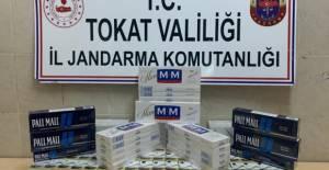 Erbaa'da yolcu otobüsünde kaçak sigara ele geçirildi