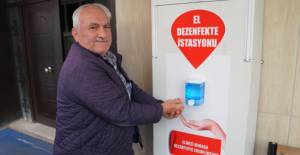 Erbaa Belediyesi'nden 20 noktaya el dezenfekte istasyonu