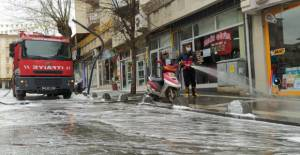 Erbaa'da köpüklü koronavirüs temizliği