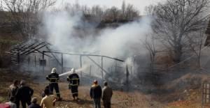 Erbaa'da yangın 5 koyun ile 1 köpek telef oldu