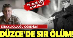 Hrant Dink cinayetinde olay yerinde olduğu iddia ediliyordu! Erbaalı Şeref Ateş öldürüldü