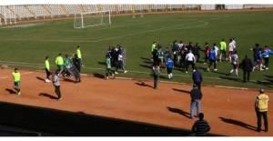 Tokat'ta amatör maçta kavga