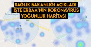 İşte Erbaa'nın koronavirüs yoğunluk haritası
