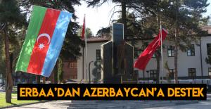 Erbaa'dan Azerbaycan'a destek