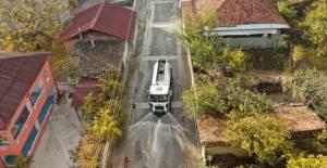 Erbaa'da cadde ve sokaklar dezenfekte ediliyor