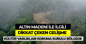 Erbaa'daki altın madeni ile ilgili dikkat çeken gelişme