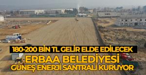 Erbaa Belediyesi, güneş enerji santraliyle elektrik üretecek