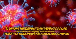 Tokat'ta koronavirüs kurallarına uymayan işyerleri 10 gün süreyle kapatılacak
