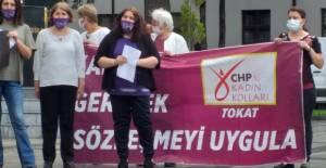 CHP Erbaa teşkilatından 'İstanbul Sözleşmesi' protestosu