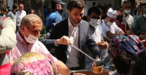 Erbaa'da 1500 kişiye aşure dağıtıldı