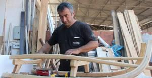 Avrupa'dan 1500 euroya alınan kızaklar, Erbaa'da 1500 TL'ye üretildi