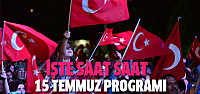 Erbaa'da 15 Temmuz programı