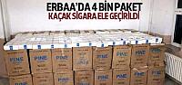 Erbaa'da 4 Bin Paket Kaçak Sigara Ele Geçirildi