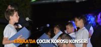 Erbaa'da çocuk korosu konser verdi
