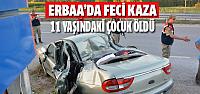 Erbaa'da feci kaza: 1 Ölü 4 yaralı