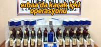 Erbaa'da kaçak içki ve sigara yakalandı