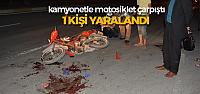 Erbaa'da Motosikletle Kamyonet Çarpıştı: 1 Yaralı