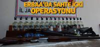 Erbaa'da sahte içki operasyonu: 4 gözaltı