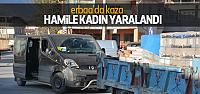 Erbaa'da Trafik Kazası: Hamile Kadın Yaralandı