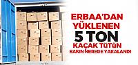 Erbaa'dan yüklenen 5 Ton Kaçak Tütün Sivas'ta ele geçirildi