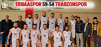Erbaaspor Trabzonspor Gelişim'i 59-54 mağlup etti