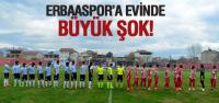 Erbaaspor'a Büyük Şok