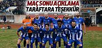 Erbaaspor'un Amasya Galibiyeti Sonrası Taraftara Teşekkür Mesajı