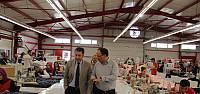 Kaymakam Kapankaya'dan tekstil firmalarına ziyaret