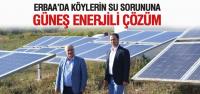 Köylerin İçme Suyu Güneş Enerjisiyle Karşılanacak