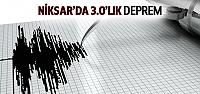 Niksar'da 3.0'lık Deprem Meydana Geldi