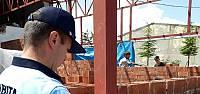 Niksar'da kaçak yapılar mühürleniyor