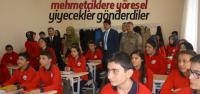 Öğrencilerden Mehmetçiklere Yöresel Yemek