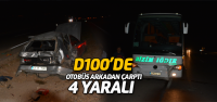 Otobüs otomobile arkadan çarptı: 4 yaralı