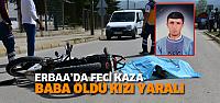 Otomobil, motosiklete çaptı: 1 ölü 1 yaralı