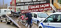 Polisten Erbaa'da Motosiklet Uygulaması