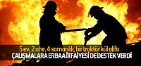 Taşova'da Büyük Yangın, Erbaa İtfaiyesi de Destek Verdi