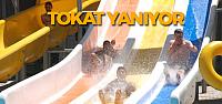 Tokat'ta Sıcaktan Bunalanlar Aquaparkta Serinledi