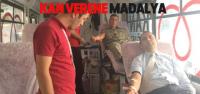 Zile'de Kan Bağışında Bulunanlara Madalya Verildi