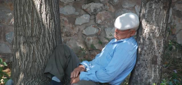 Tokat'ta Sıcaktan Bunalan Vatandaşlar Cami Avlusunda Serinledi