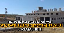 Tokat Termal Sulusaray Kaplıca suyunun analiz raporu: 'Kusursuz'